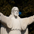 Statue of Jesus with outstretched — Stock Photo