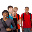 Diverse group of college students — Stock Photo