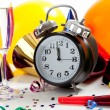 Assorted New Year's Eve party supplies — Stock Photo