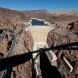 Hoover Dam on Colorado river and Lake Meade Arizona — Stock Photo #13626429