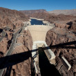 Stock Photo: Hoover Dam on Colorado river and Lake Meade Arizona