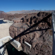 The Hoover Dam from the Mike 0'Callaghan-Pat Tillman Bridge — Stock Photo