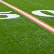 Stock Photo: AmericFootball Field - 50 yard line