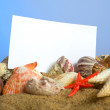 Stock Photo: Notecard on Beach