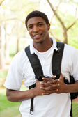 African American College Student smiling — Stock Photo