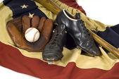Attrezzi d'epoca baseball — Foto Stock