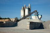 Concrete manufacturing processing plant — Stock Photo