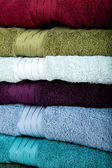 A background made up of assorted towels — Stock Photo