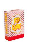 Prokládané popcorn box na bílém pozadí — Stock fotografie