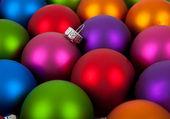 Multi-colored christmas ornament — Stock Photo