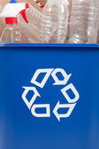Recycle can with recyclables — Stock Photo