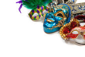 Mardi Gras or carnival mask on white — Stock Photo