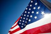 Amereican bandera exhibición conmemora día de fiesta nacional — Foto de Stock