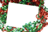 Christmas Bow Notecard — Stock Photo