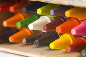 Background of New Crayons — Stock Photo