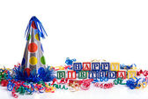 """Happy Birthday"" Blocks — Stock Photo"