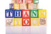 """Thank You"" Blocks — Stock Photo"