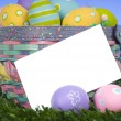 Stock Photo: Easter Basket Notecard
