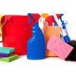 Spring Cleaning Supplies — Stock Photo