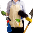 Spring Time Chores - Stock Photo