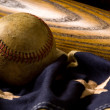 Vintage Baseball Background - Zdjęcie stockowe