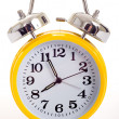Yellow alarm clock — Stock fotografie