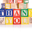 """Thank You"" Blocks — Stock Photo"