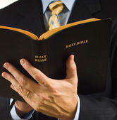 Preacher with Bible — Stock Photo