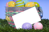 Easter Basket Notecard — Stock Photo
