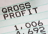 Analysis of business profit and loss statment — Stock Photo