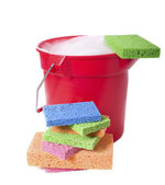 Bucket and Sponges — Stock Photo
