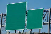 Blank Highway Sign — Stock Photo