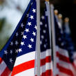American Flag Display for Holiday - Stock Photo