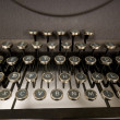 Antique Typewriter Keyboard - 图库照片