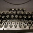 Antique Typewriter Keyboard - Foto de Stock