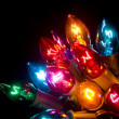 Christmas Lights on Black — Stock Photo