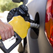 Pumping Gas or Petrol — Stock Photo