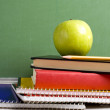 Apple and School books - Lizenzfreies Foto