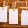 Notes on a Clothesline — Stock Photo #13642398