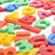 Plastic Magnet Alphabet Letters — Stock Photo