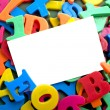 Stock Photo: Notecard with Alphabet Letters