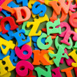 Plastic Letter Background - Stockfoto