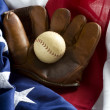 Classic Baseball Items - Stock fotografie
