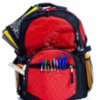 Stock Photo: Red School Back Pack