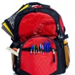 Red School Back Pack — Stock Photo