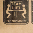 Safety Label on Box — Stock Photo #13642807