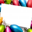 Stock Photo: Christmas Decorations Notecard