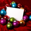Christmas Decorations Notecard — Stock Photo