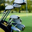 Golf Clubs and Golf Course — Stock Photo