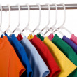 Colorful T-Shirts on White — Stock Photo #13643440